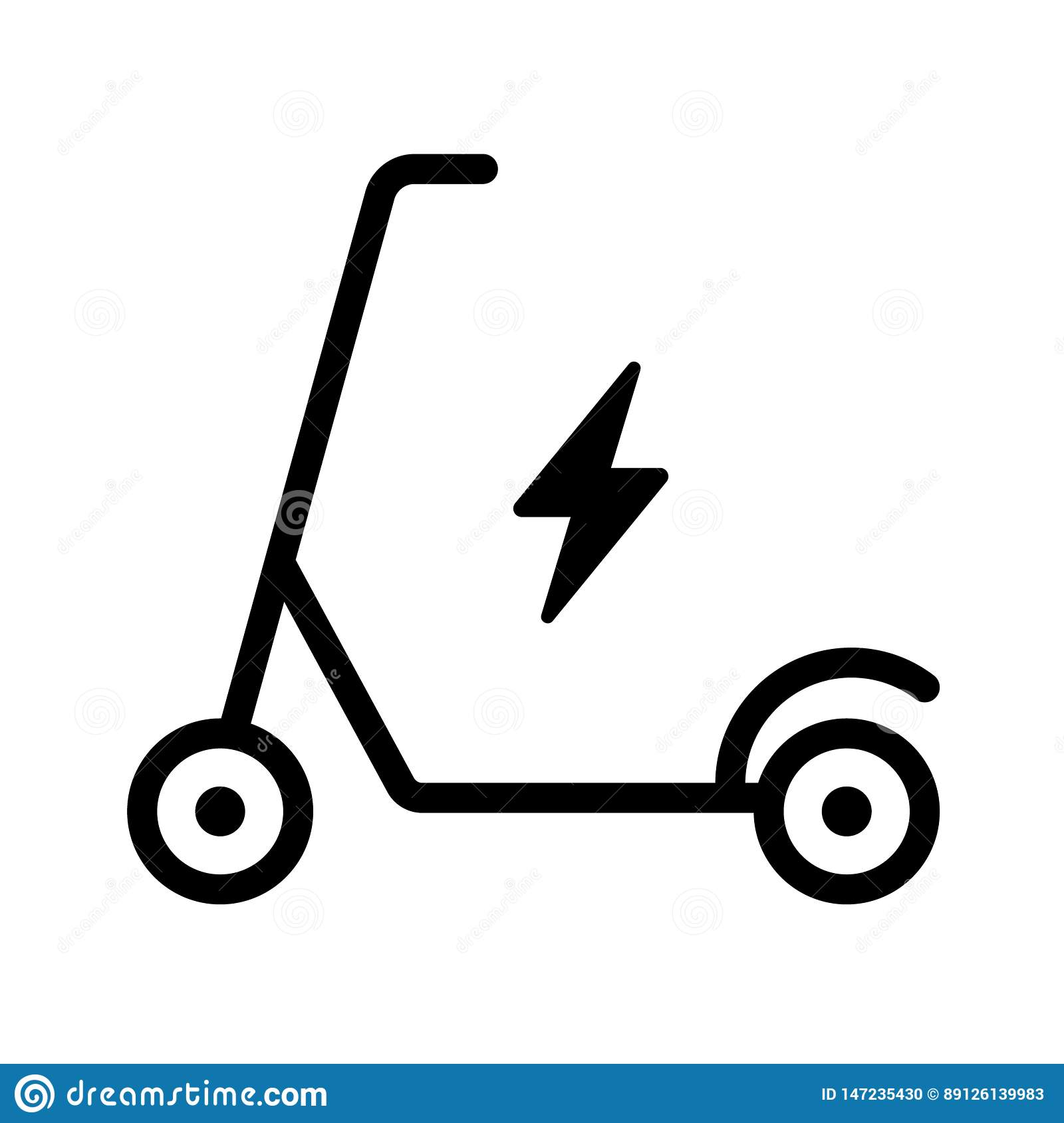 electric scooter vector icon stock vector illustration of isolated power 147235430 https www dreamstime com electric scooter vector icon white background environmentally friendly transport image147235430