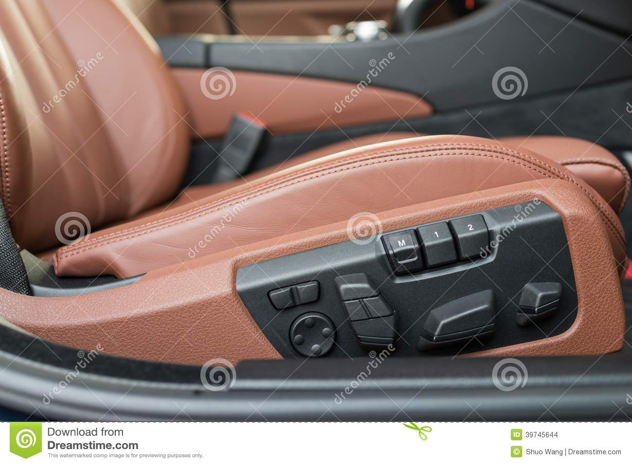 Electric Seat Adjustment Stock Photo Image Of Button 39745644