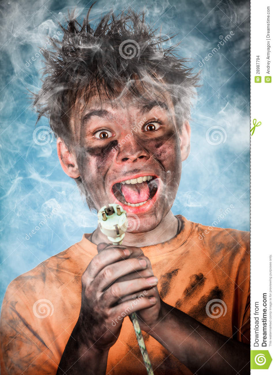 Electric Shock Stock Photo. Image Of Caucasian, Danger