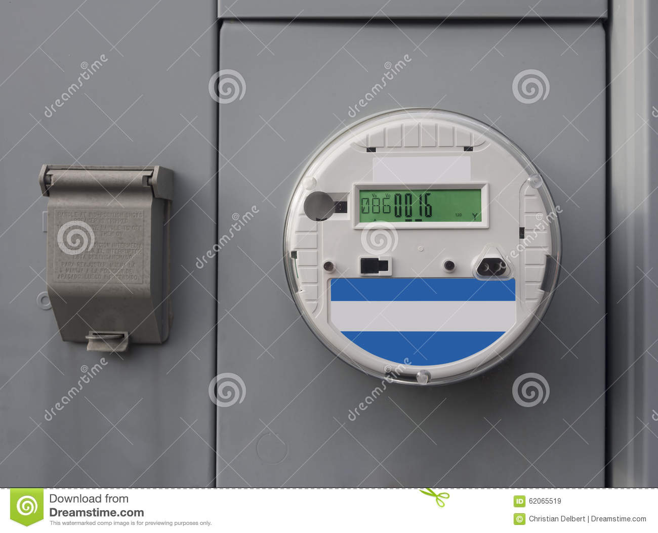 Residential Energy Meter : Electric smart meter stock image of installation