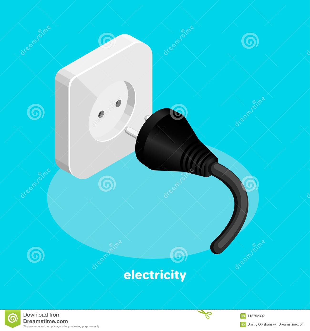Electric Socket And Plug With Wire Stock Vector - Illustration of ...
