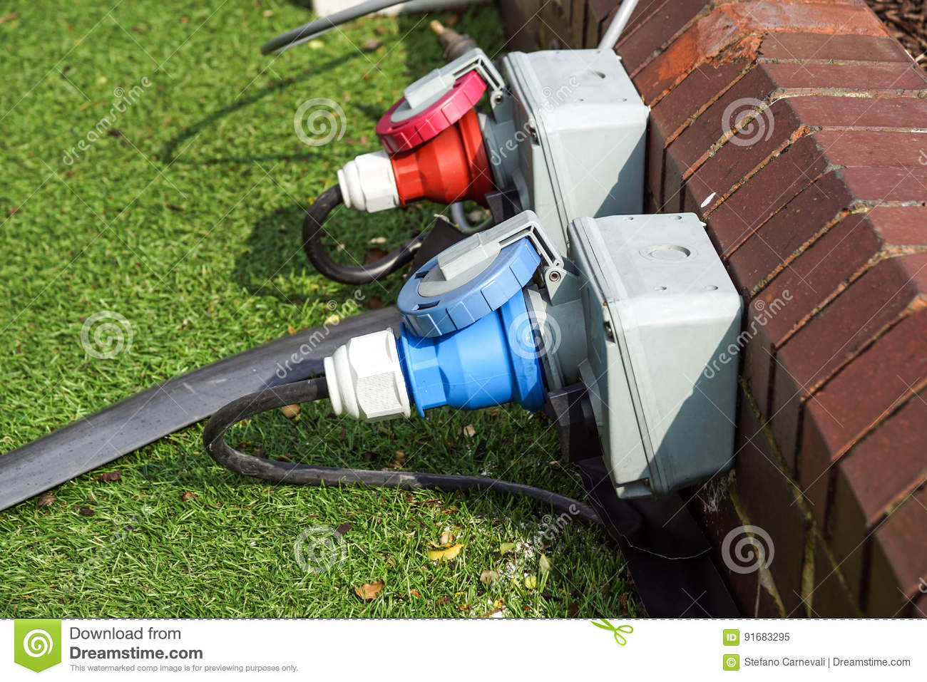 An electric socket timer with cord attached. This one is used outdoors in damp weather which might present a safety