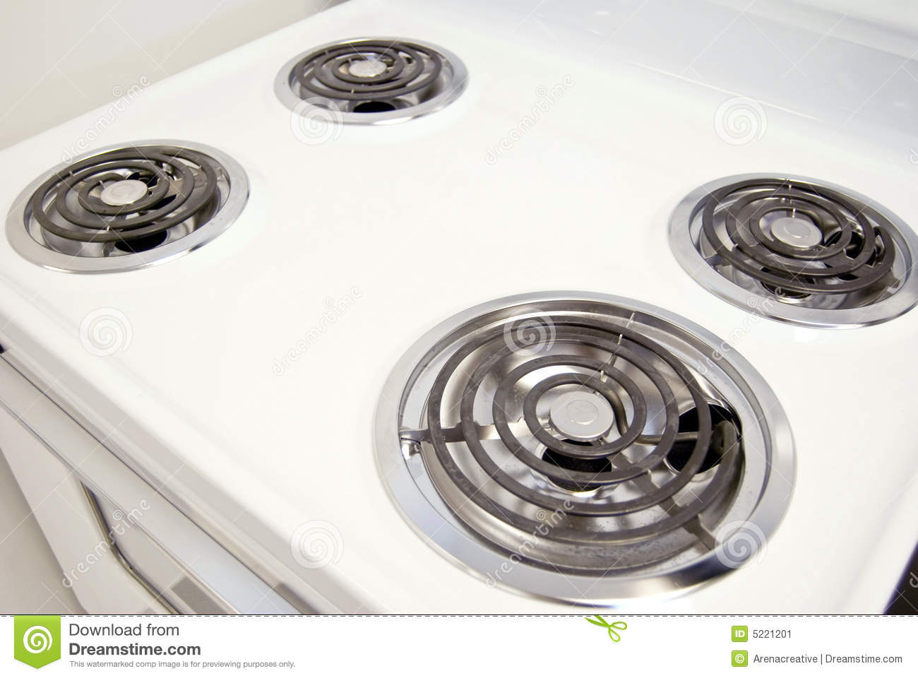Electric Stovetop Stock Image Image 5221201