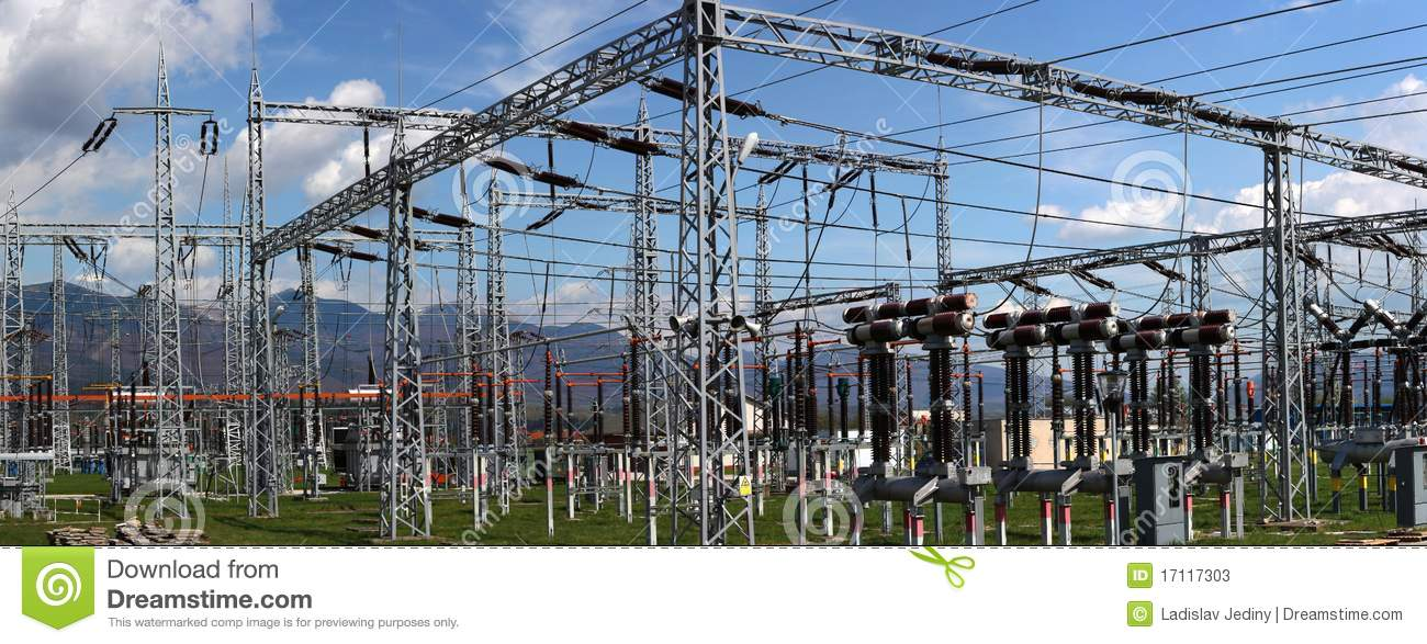 Electric substation and distribution power royalty free for Distribution substation