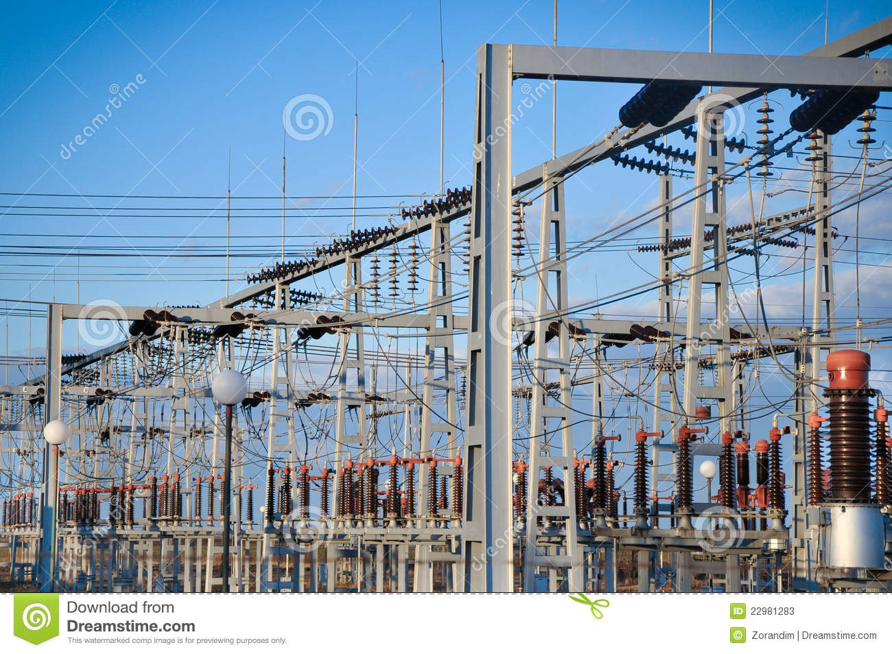 Electric substation and distribution power stock photos for Distribution substation