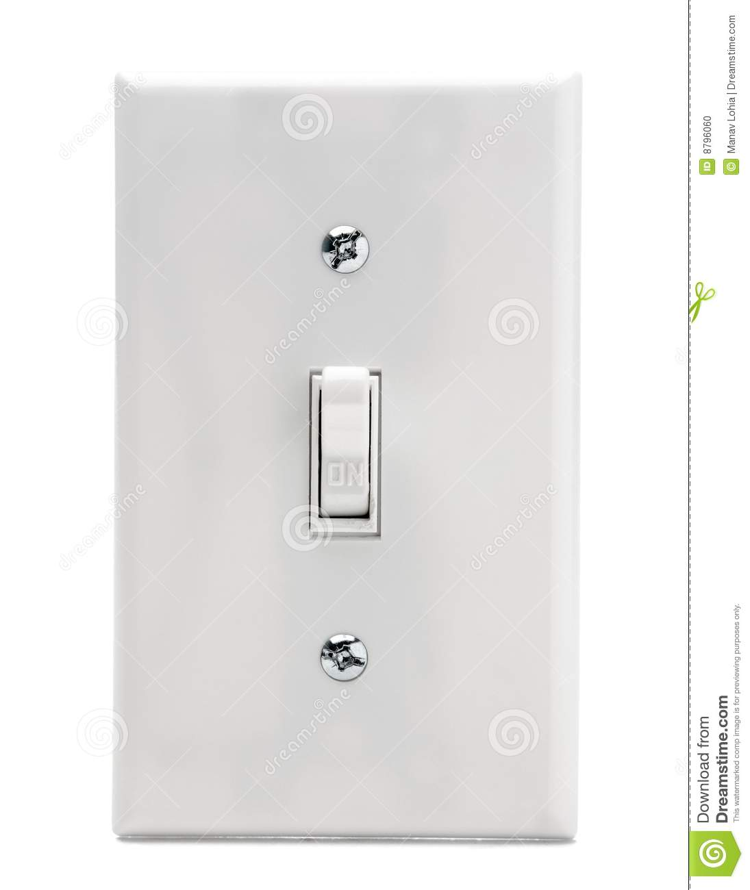 Electric Switch stock photo. Image of switch, isolated - 8796060