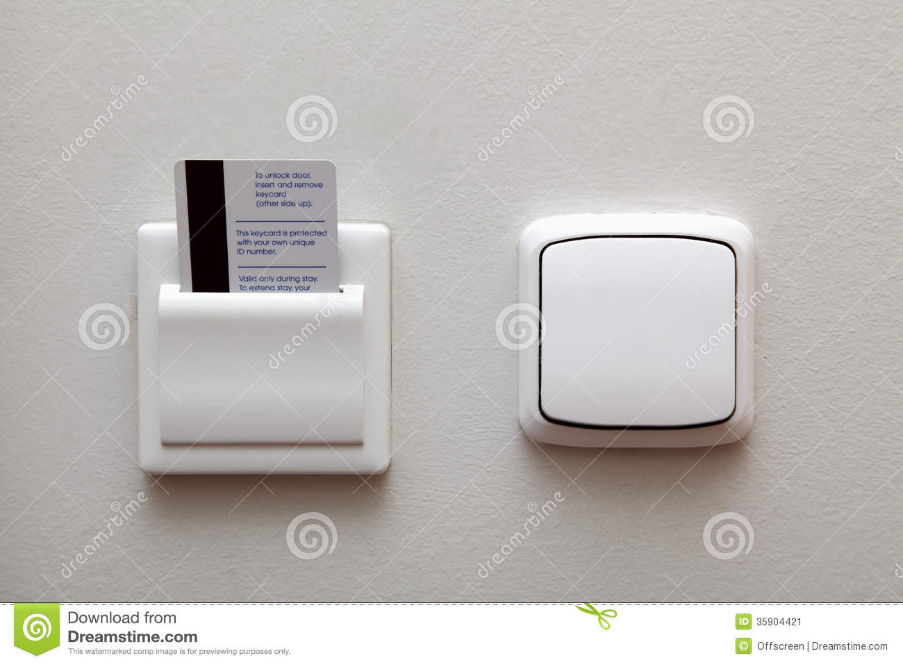 Electric Switch And Key Card Stock Image - Image of electricity ...