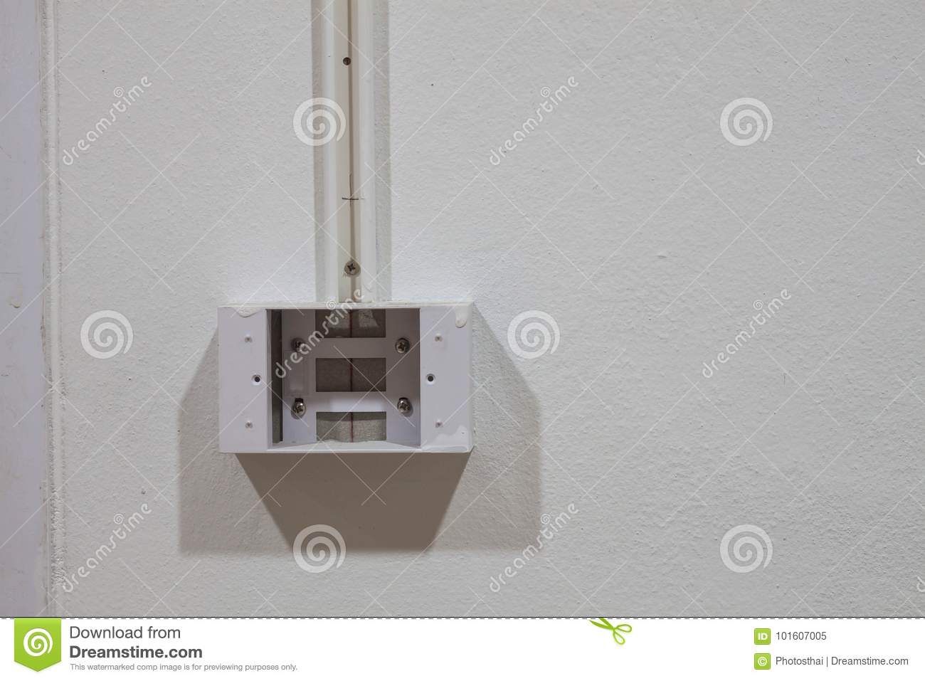 Electric Switch And Plug Circuit Box Stock Image - Image of light