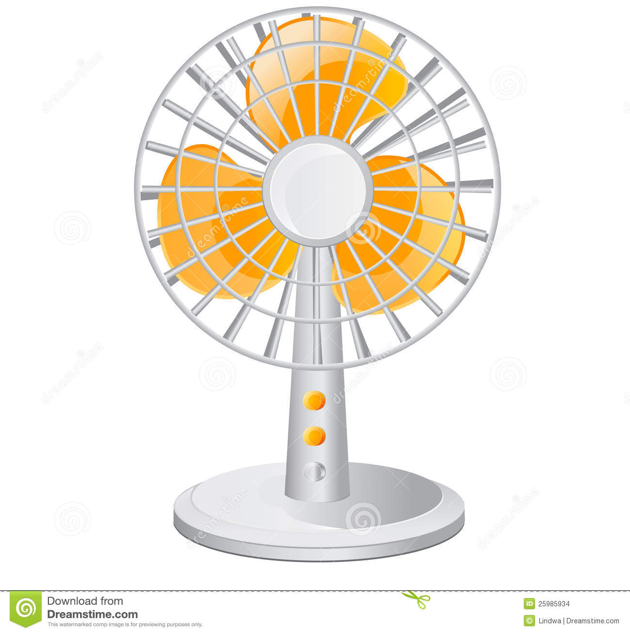 Stand Fan Clip Art : Electric table fan stock vector illustration of axle