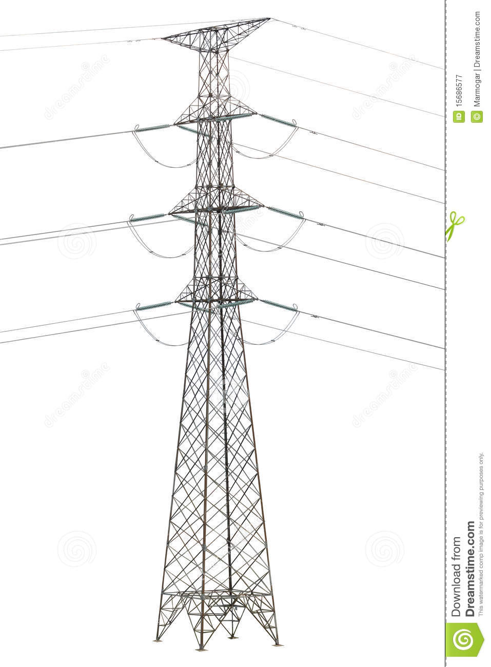 Royalty Free Stock Photography Electric Tower Isolated Image15686577 on electrical wire 3