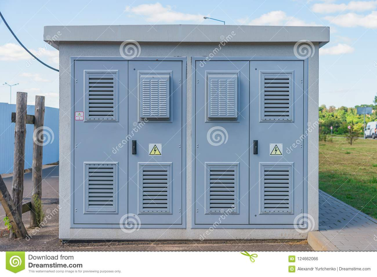 Outdoor Electrical Room Great Installation Of Wiring Diagram Electric Transformer Substation Stock Photo Image Rh Dreamstime Com Remote Electronic
