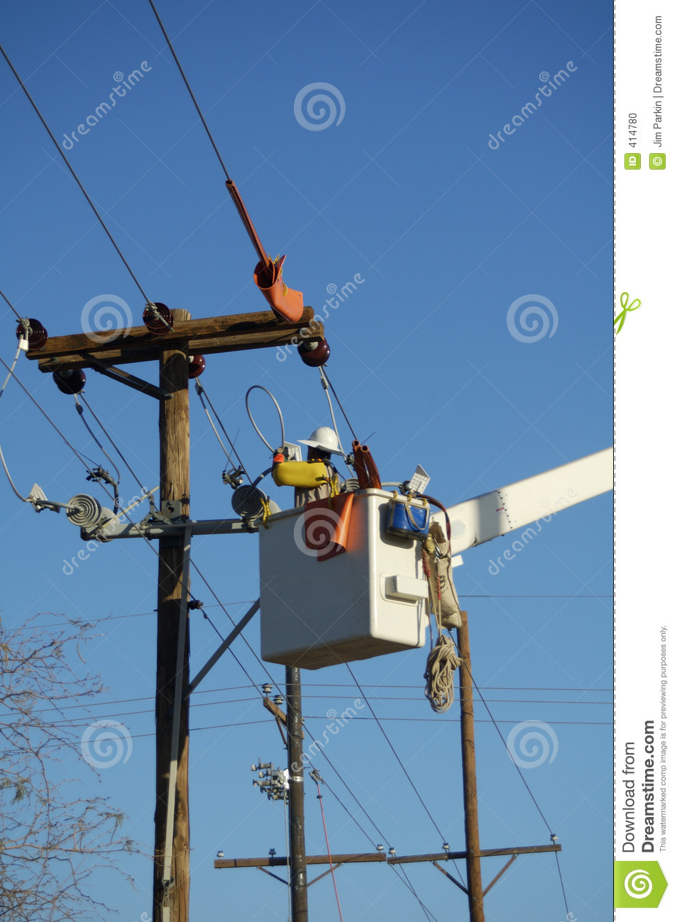 Stock Photo Electric Utility Lineman Image414780 on electrical utility box