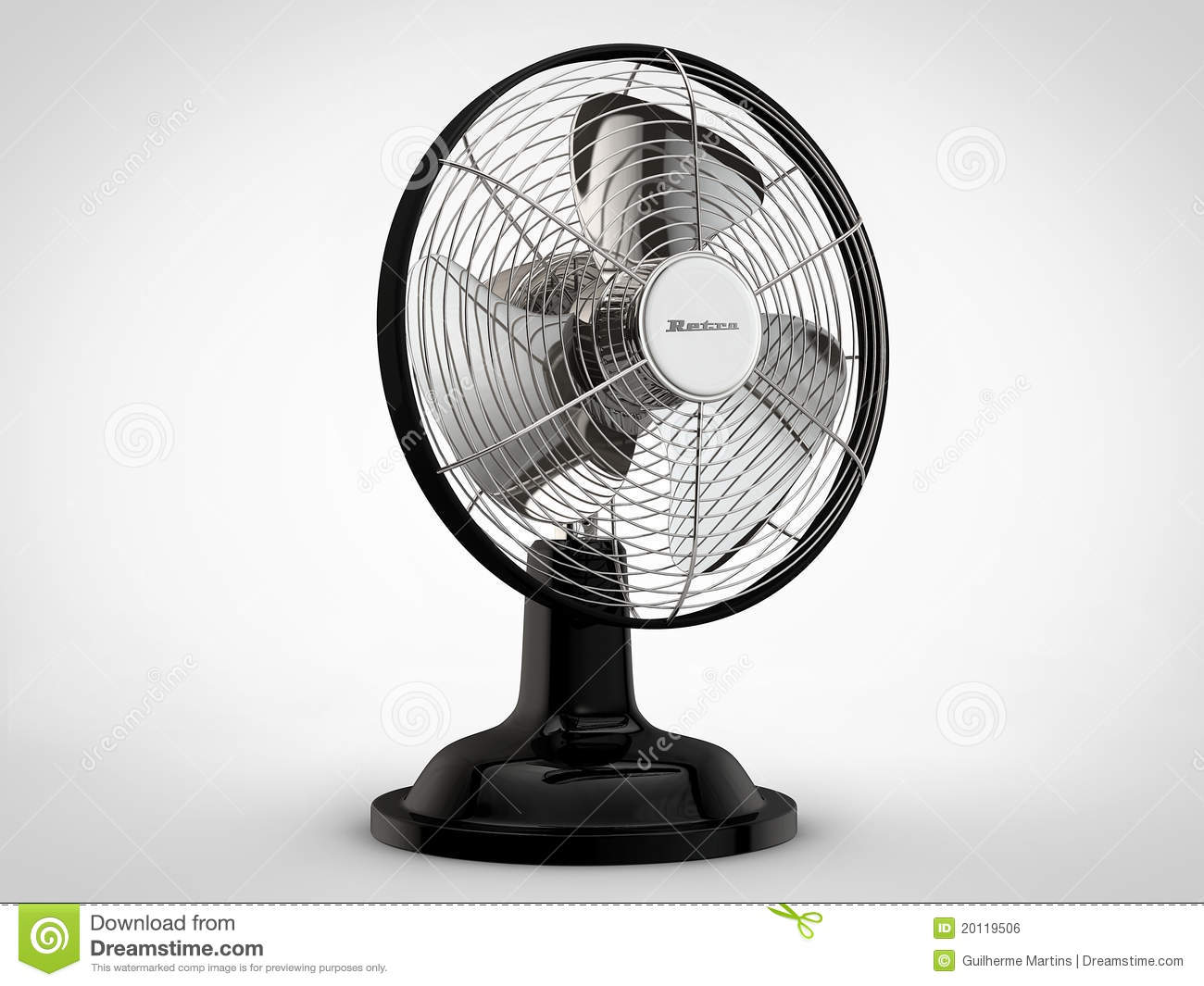 Electric Vintage Fan Royalty Free Stock Image