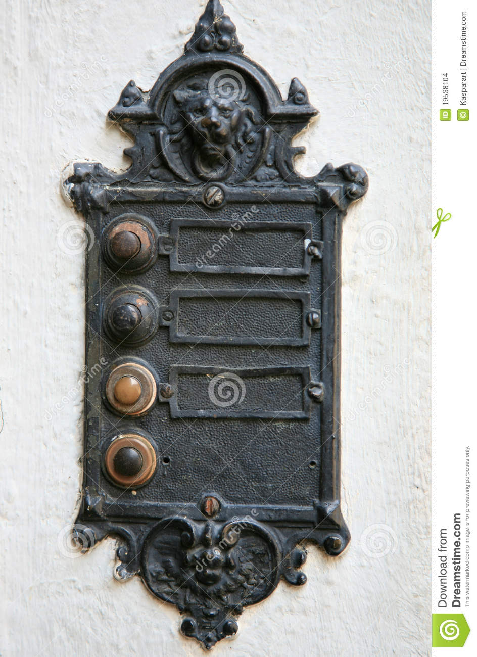 Electric Vintage Gothic Doorbell Stock Photo Image Of