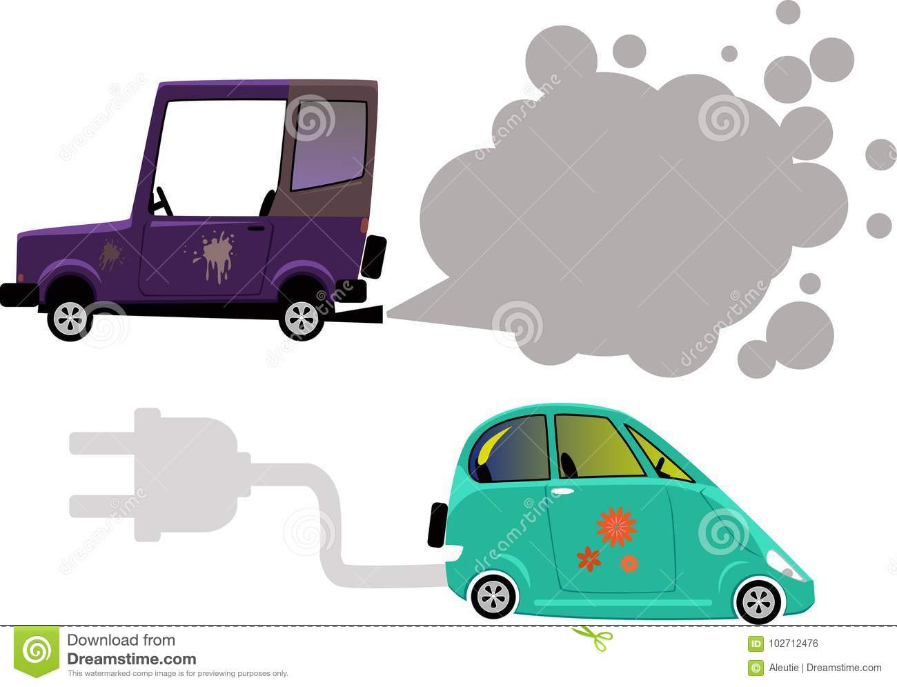 Electric Vs Gas Stock Vector Illustration Of Diesel 102712476