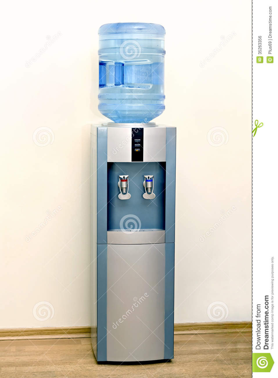 electric-water-cooler-against-background