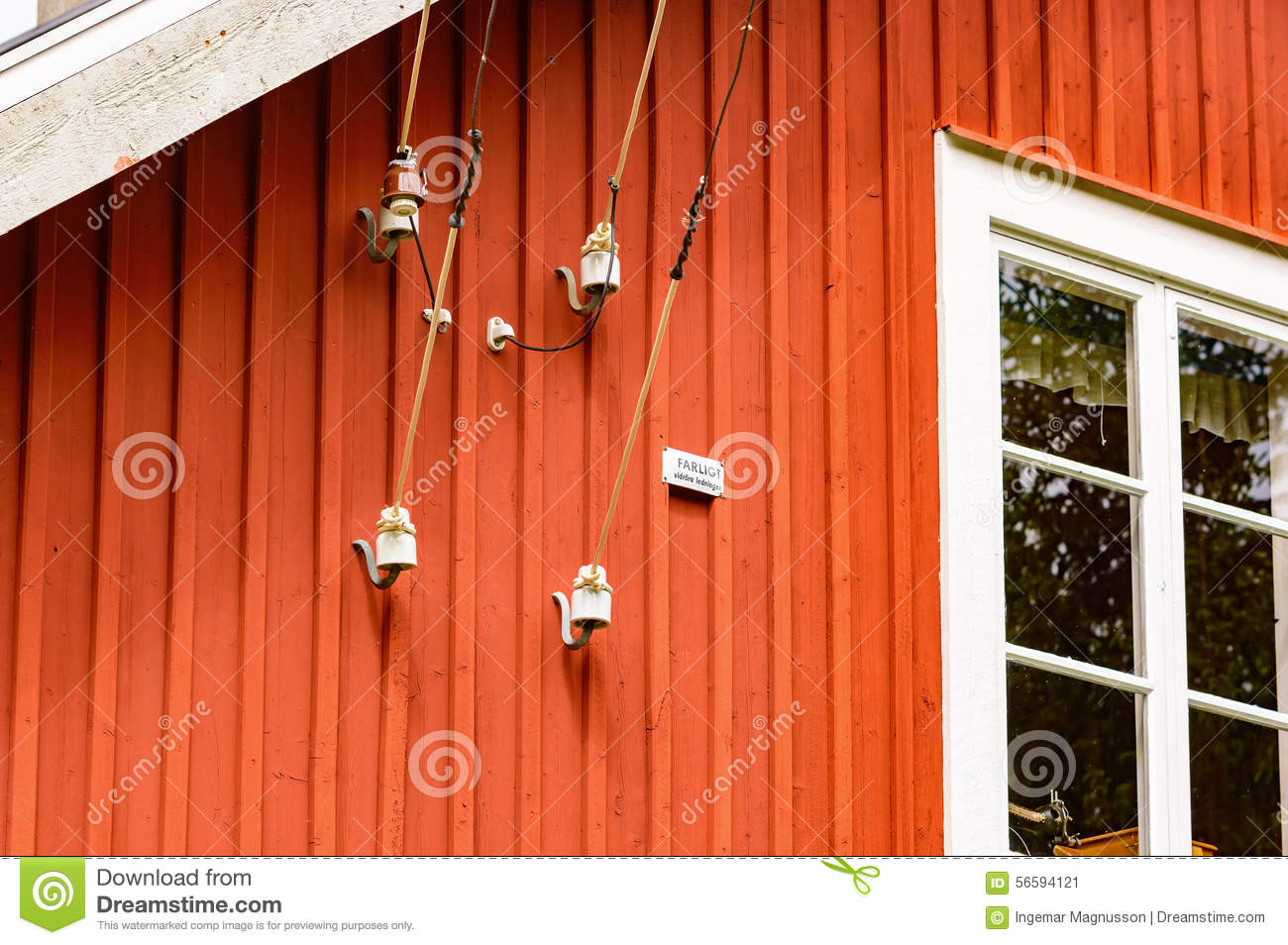 Electric wire on house stock image. Image of electricity - 56594121