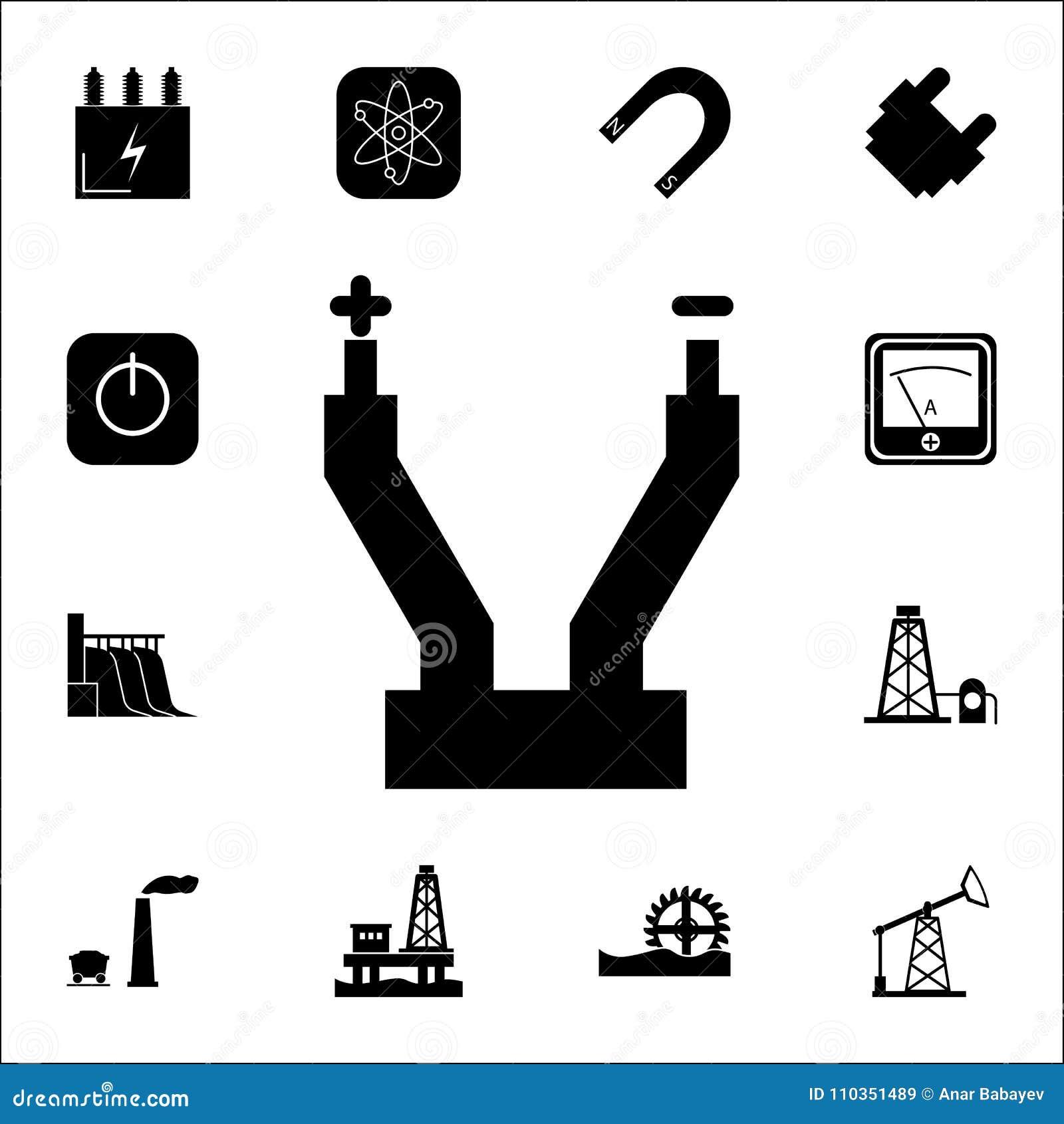 Electric Wire Line Icon. Set Of Energy Icons. Premium Quality ...