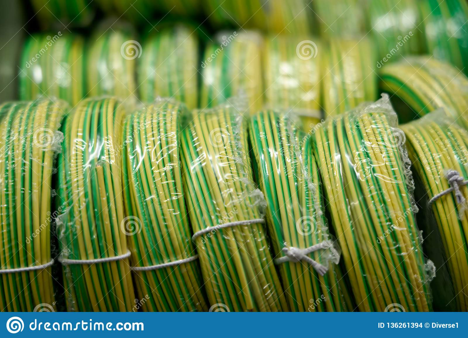 Electric Wires For Wiring Cabling Stock Photo - Image of ... on