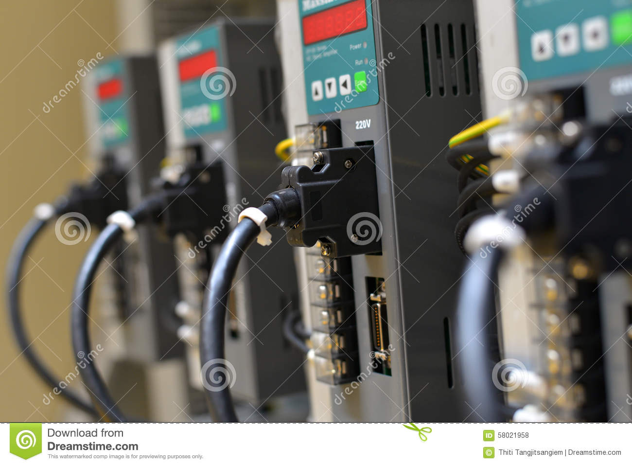 Electric Wires With Terminal Block Stock Photo Image Of Telephone Wiring Connector
