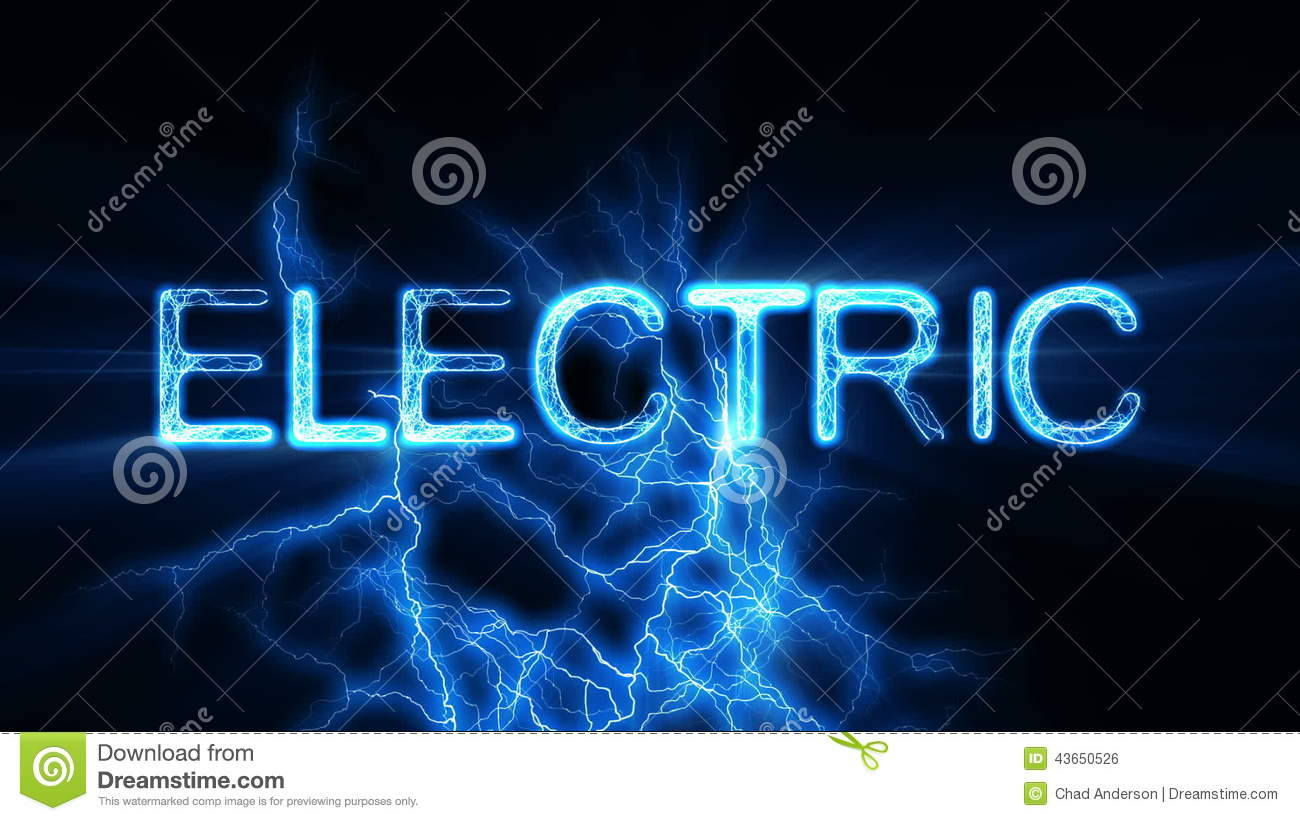 Electric word text animation with electrical lightning stock footage video of color video 43650526