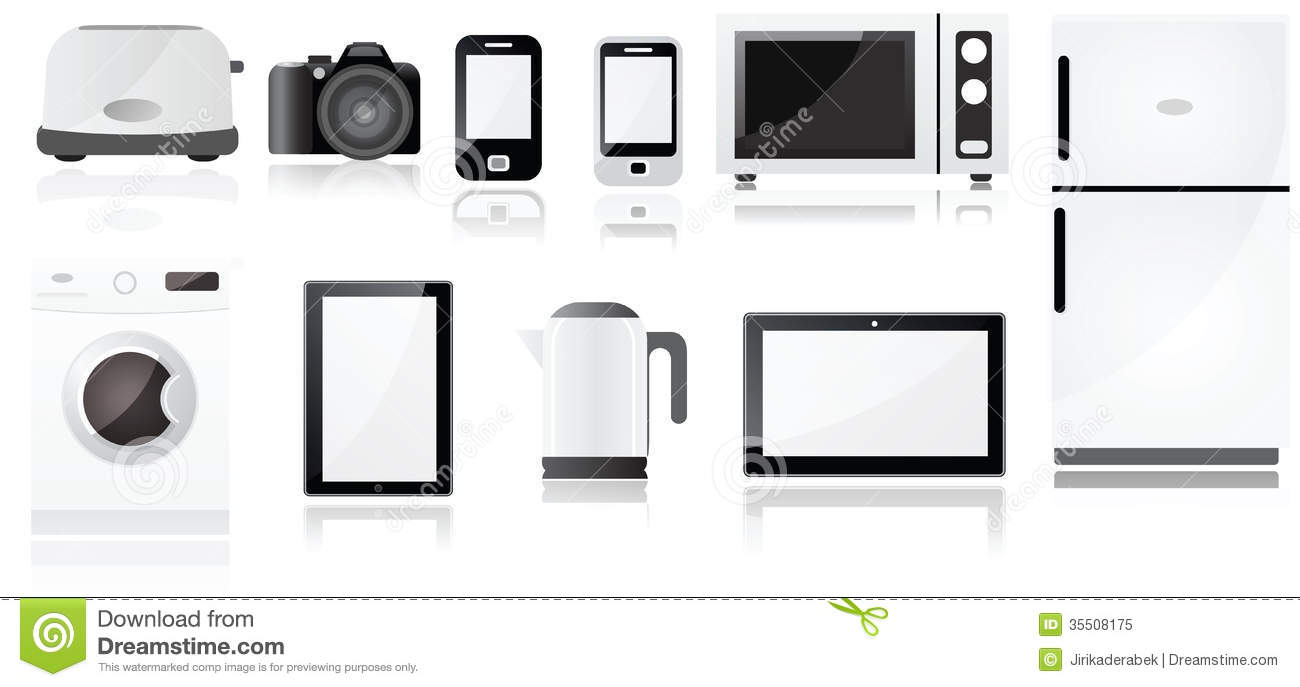 electrical appliances symbols royalty free stock photo
