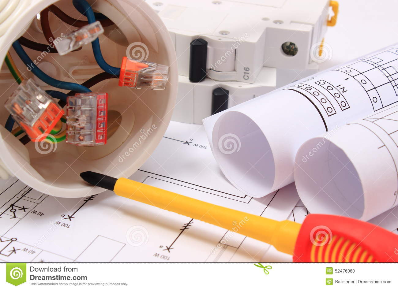 Electrical Box Diagrams And Electric Fuse On Construction Drawing House Diagram