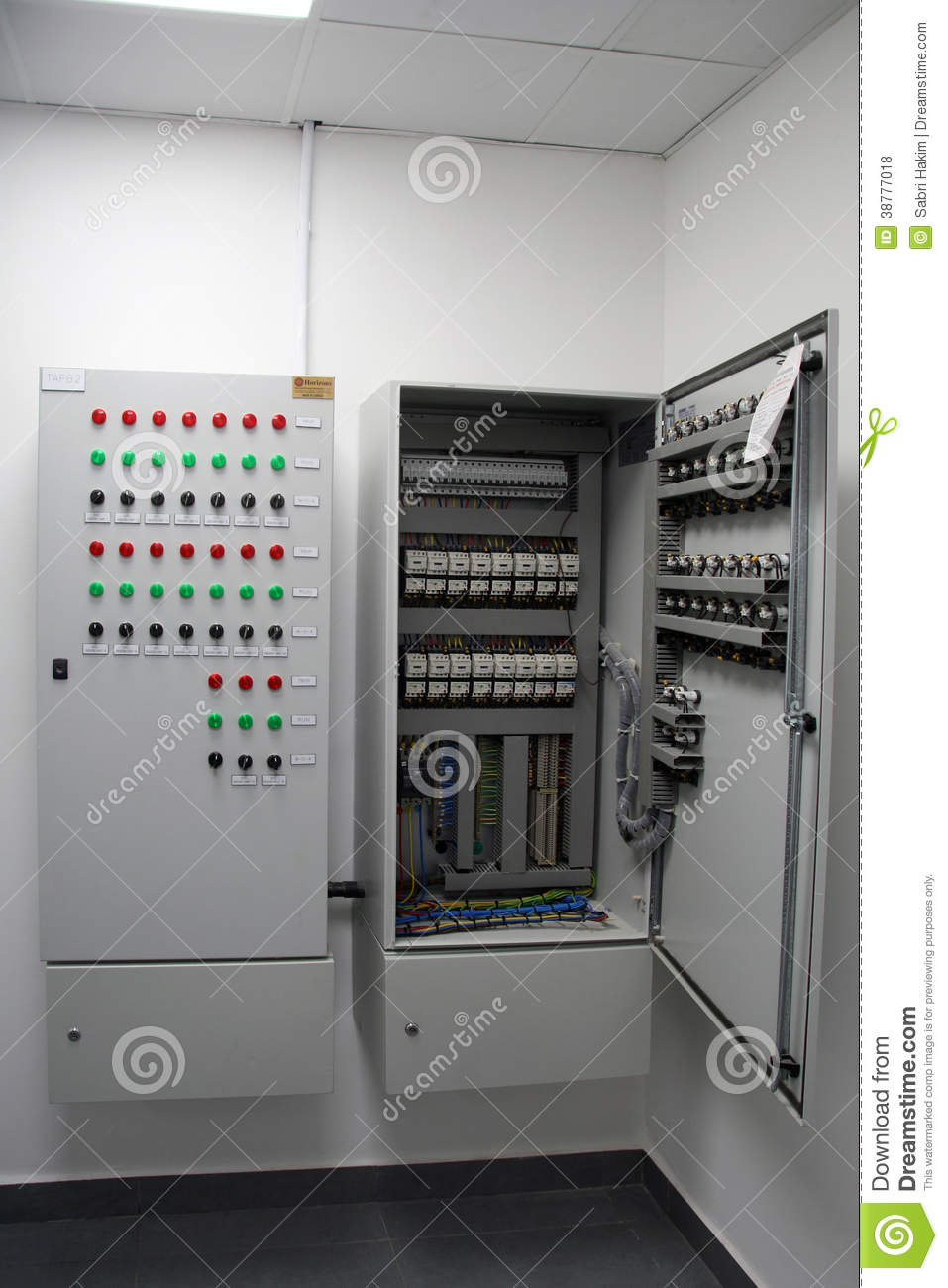 Electrical Cabinet Stock Photo  Image Of Electronic  Switches