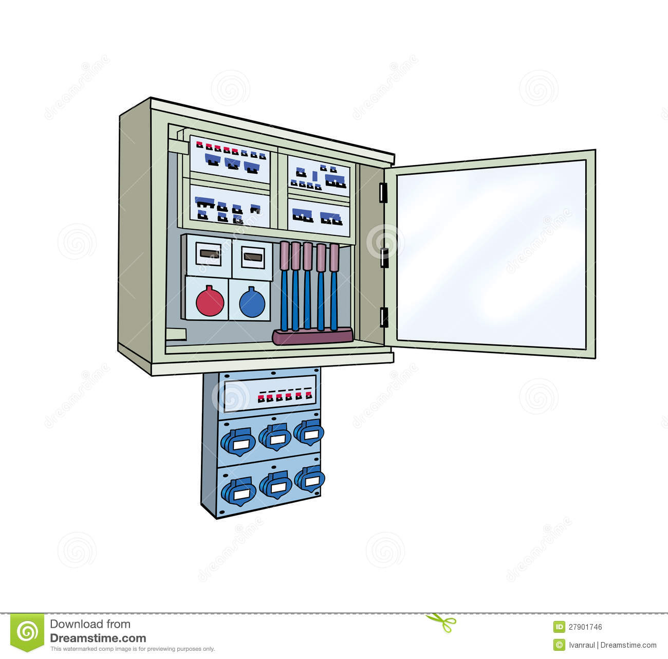 Electrical Cabinet Isolated Royalty Free Stock Image