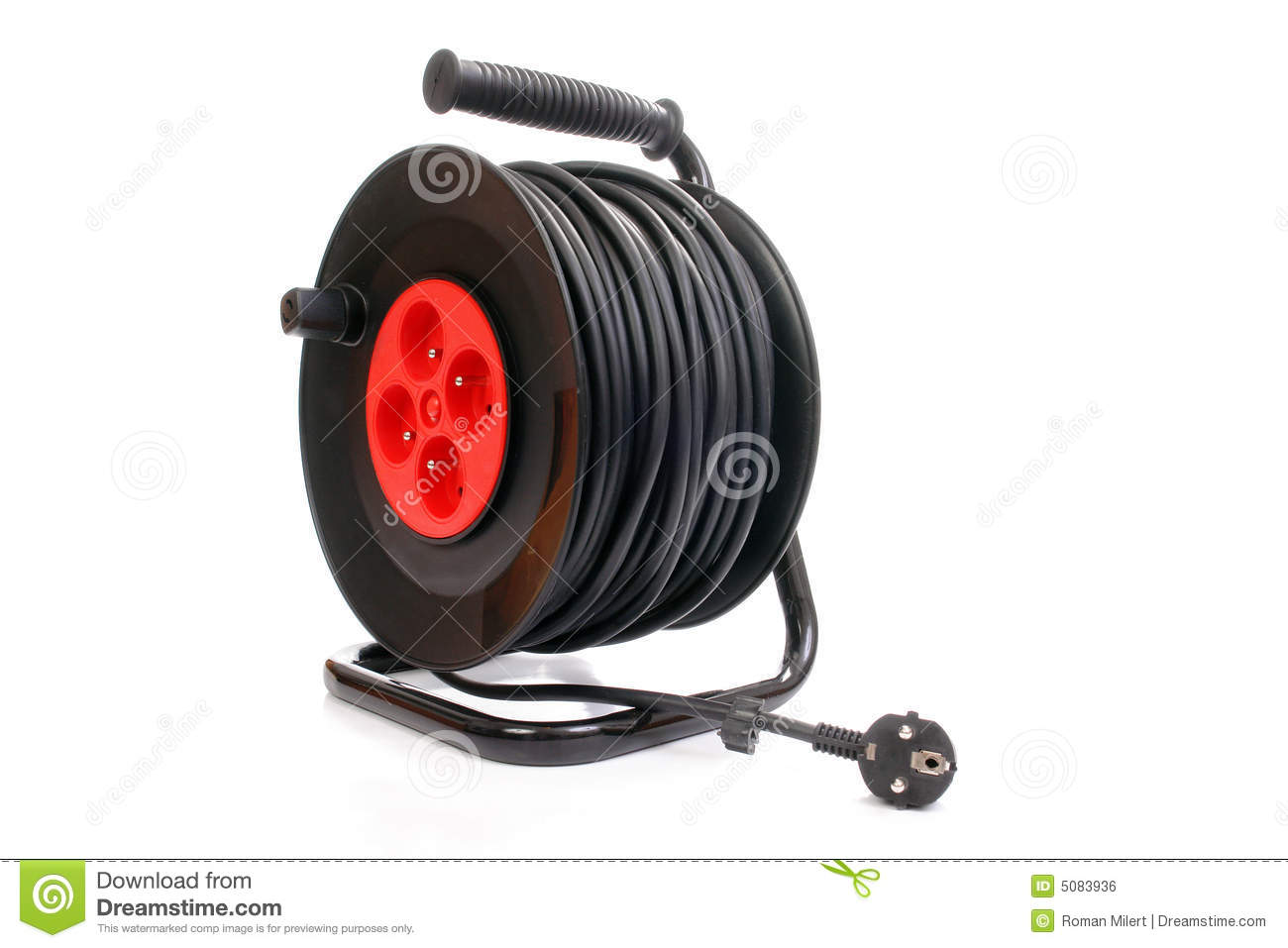 Electrical Cable Extension Reel Royalty Free Stock Image