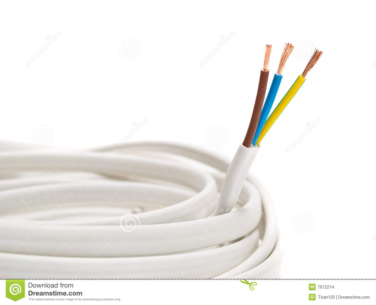Electrical Cable On White Background Stock Photo - Image of electric ...