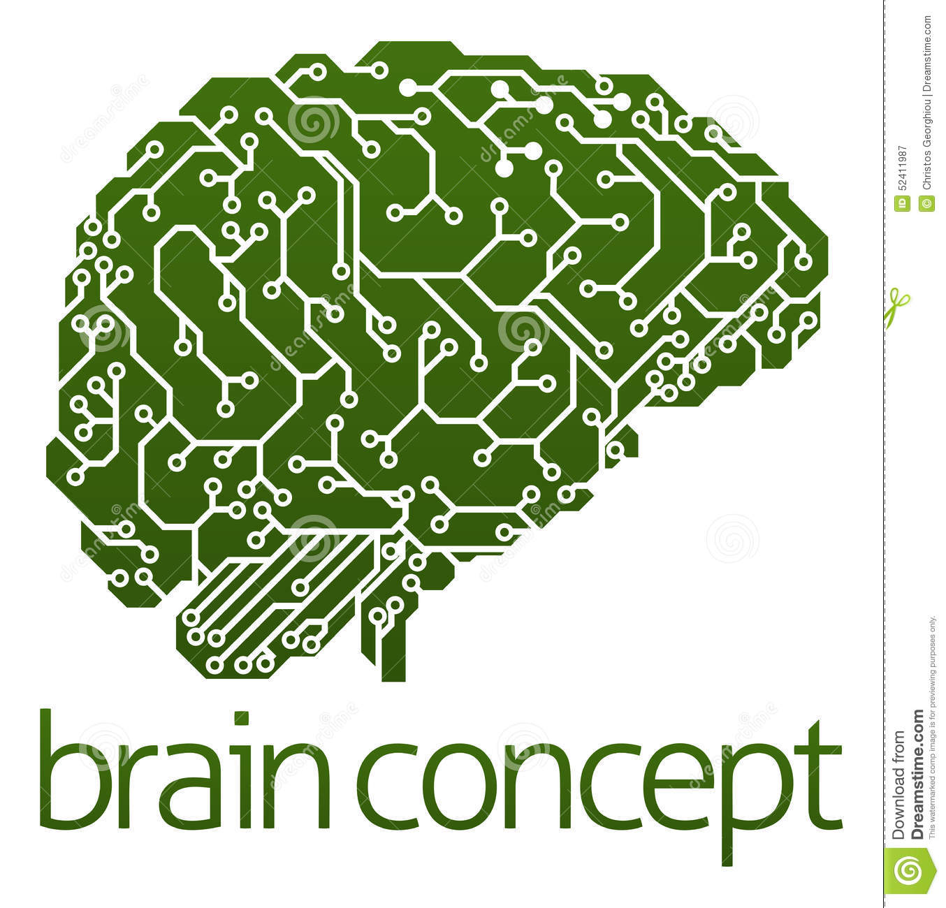 Electrical Circuit Board Brain Stock Vector Illustration Of Free Photo Hd Public Domain Pictures