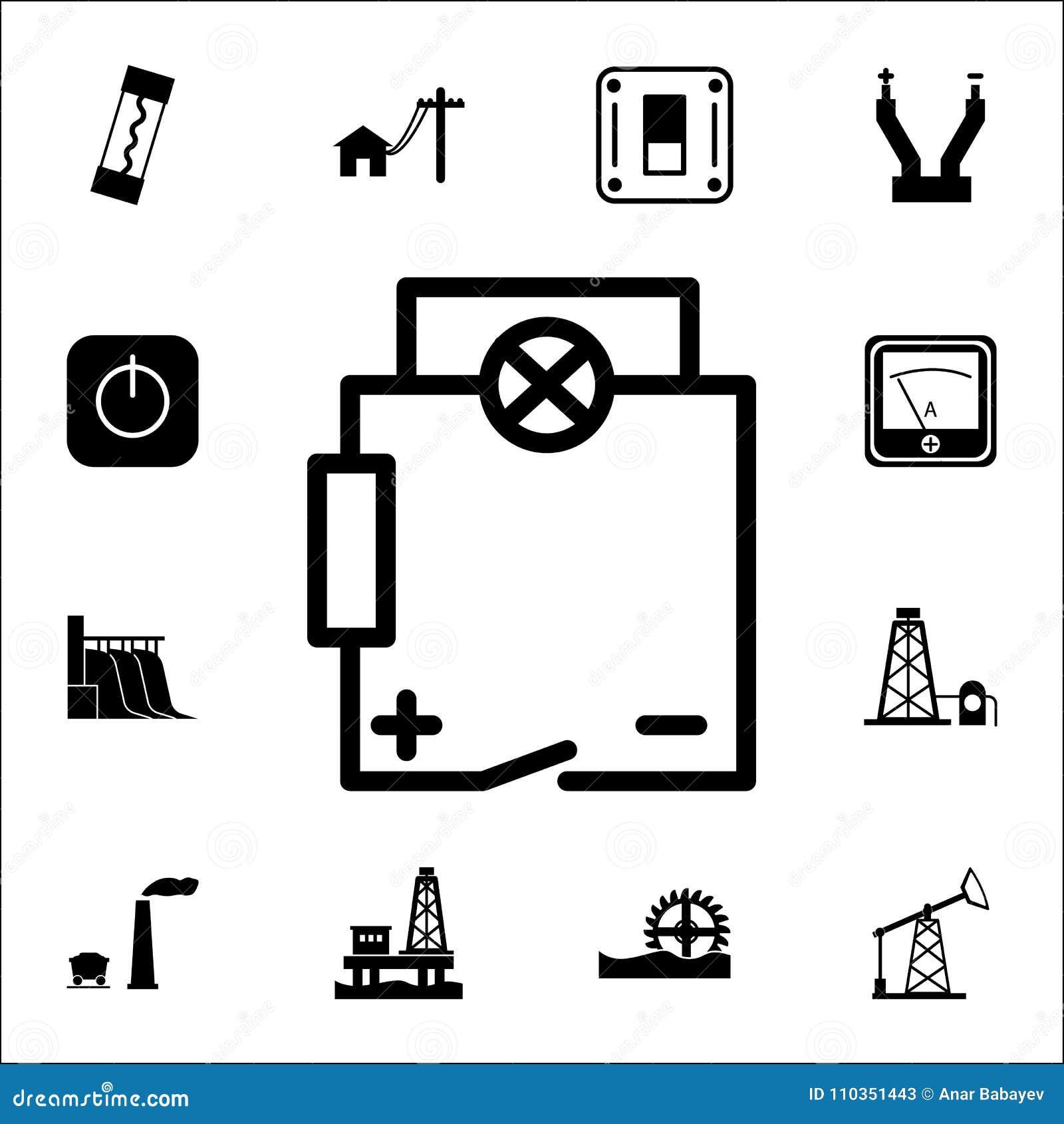 electrical circuit icon  set of energy icons  premium