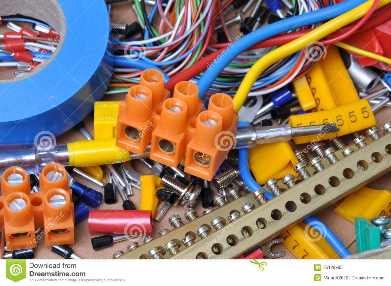 Electrical component kit stock image Image of electronics