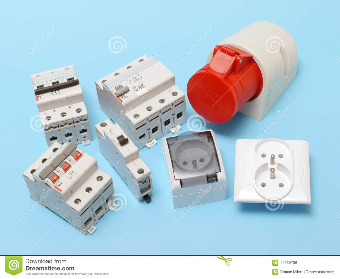 Electrical components stock photo. Image of volt, receptacle - 14169706