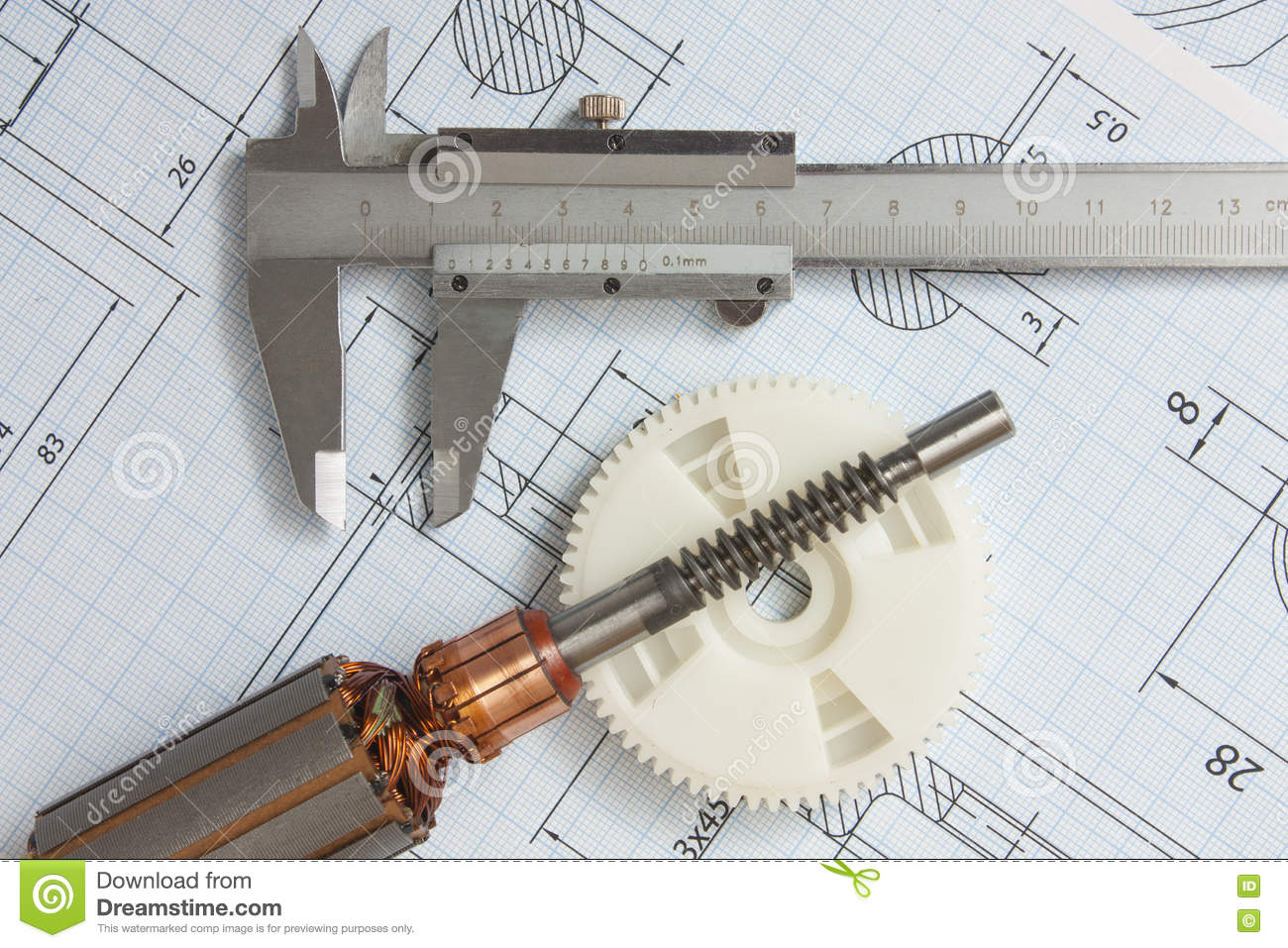 Electrical components and stationery measuring tools