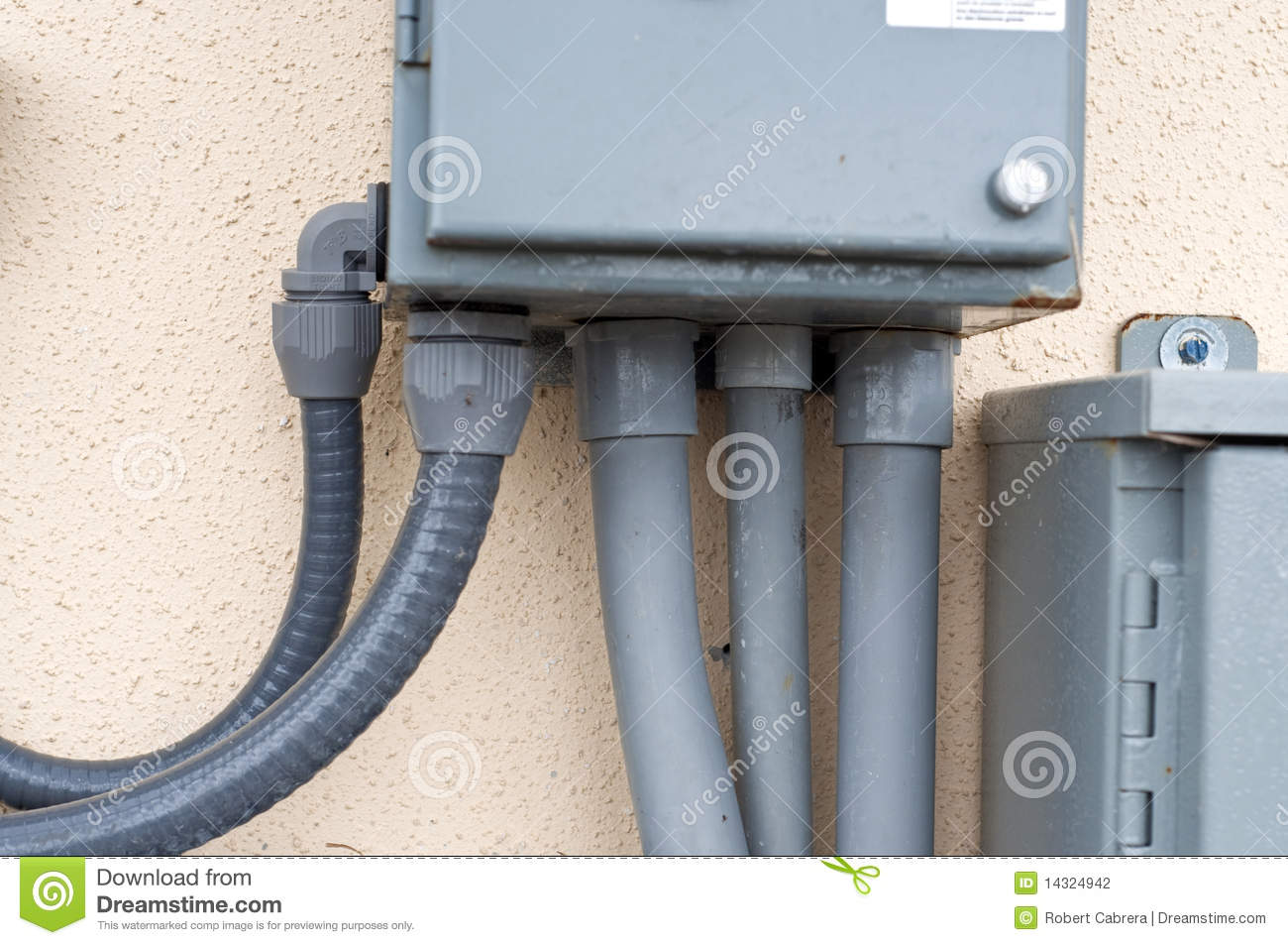 Electrical Conduit Stock Photo Image Of Plastic 14324942 Pipe Through Which Wires Are Run This