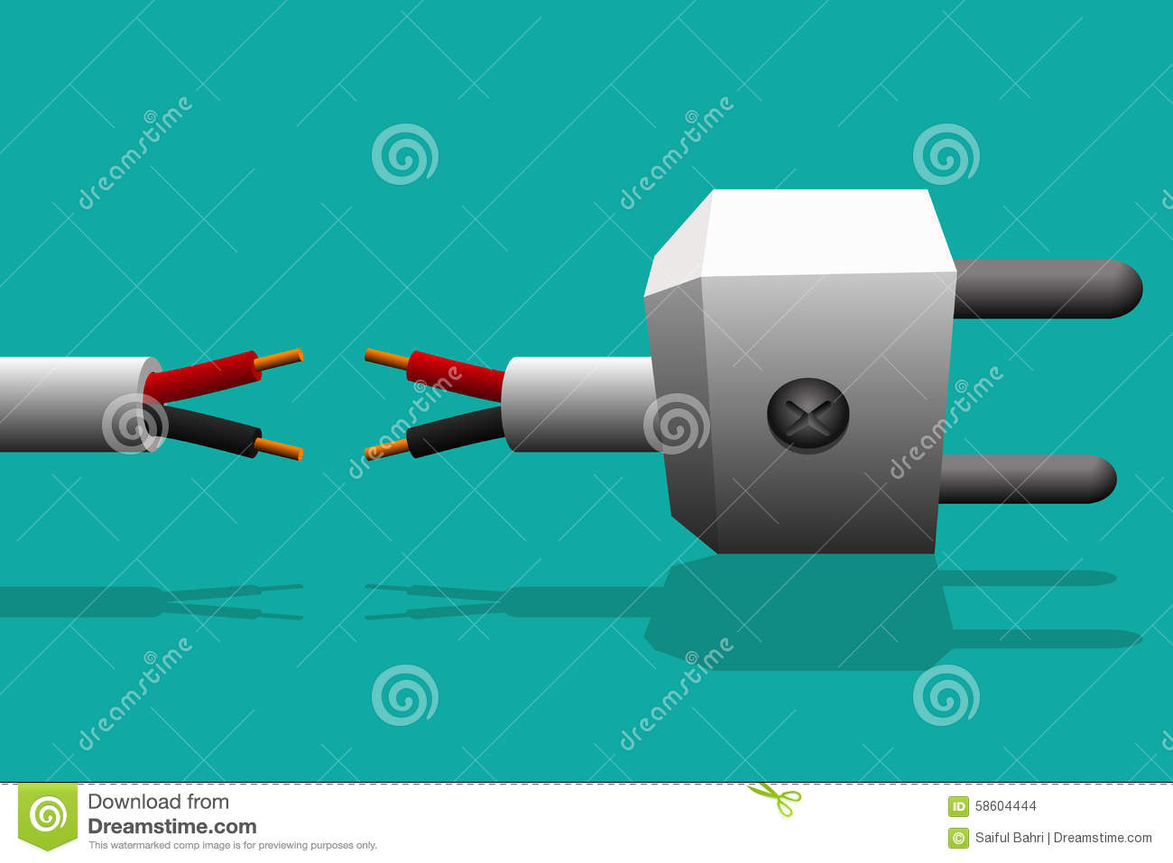Electrical Connector With The Electrical Wiring Is Not Connected Or ...