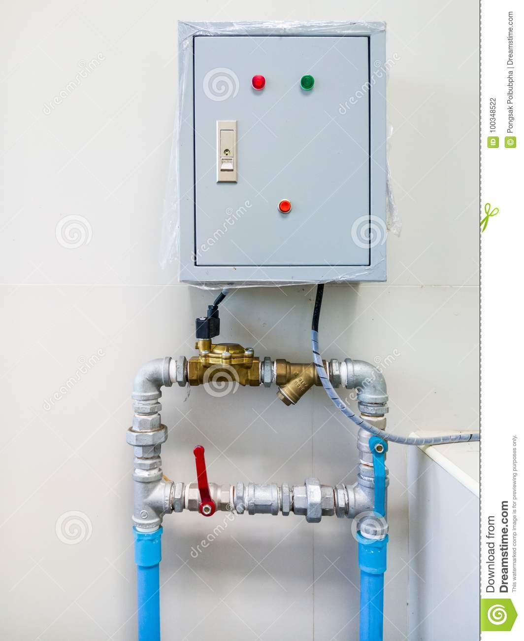 Electrical control box. stock photo. Image of handle - 100348522