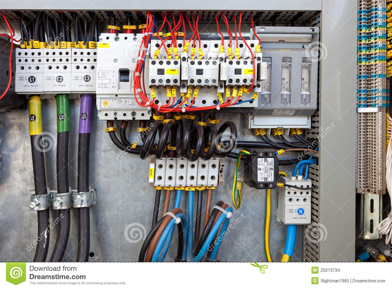 Electrical Panel At A Assembly Line Factory Controls And Switches
