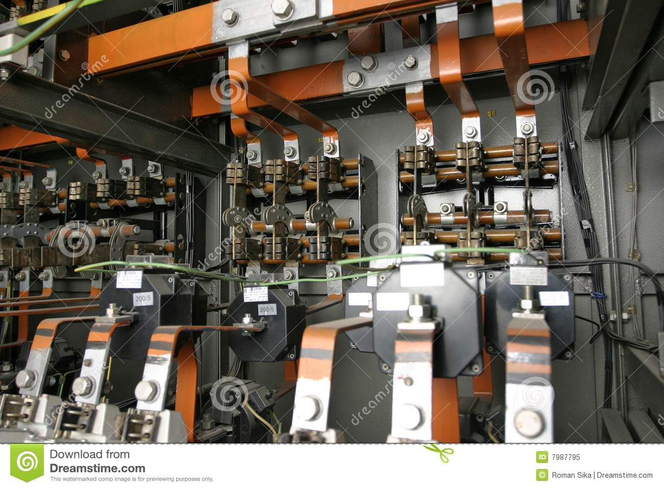 Electrical Control System In Factory Stock Image Image