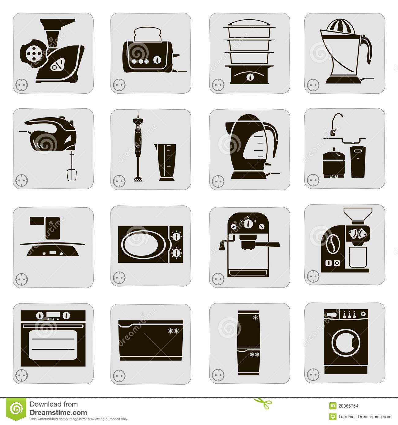 electrical devices in the kitchen stock images image