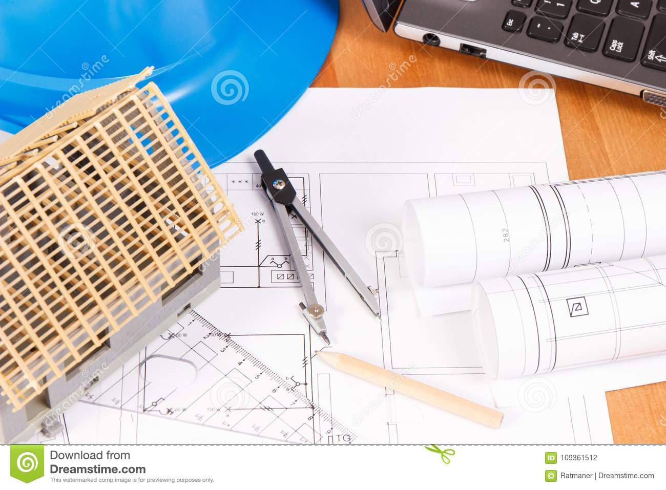 Electrical Diagrams Accessories For Engineer Jobs And House Under Diagram Building Construction On Desk Home