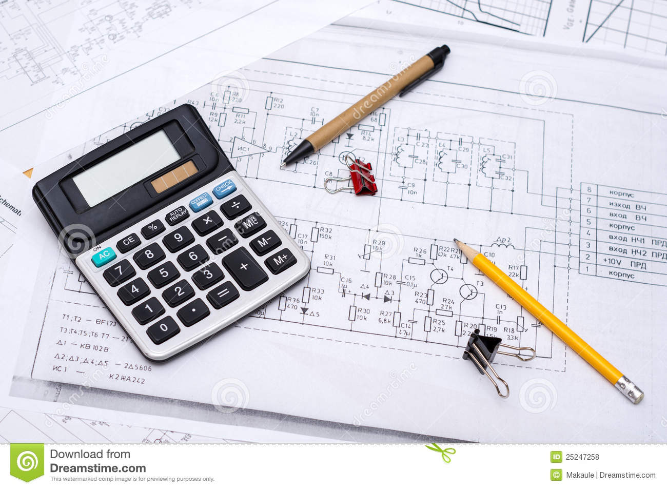 Electrical Engineering Circuit Plans Stock Image - Image: 11281641