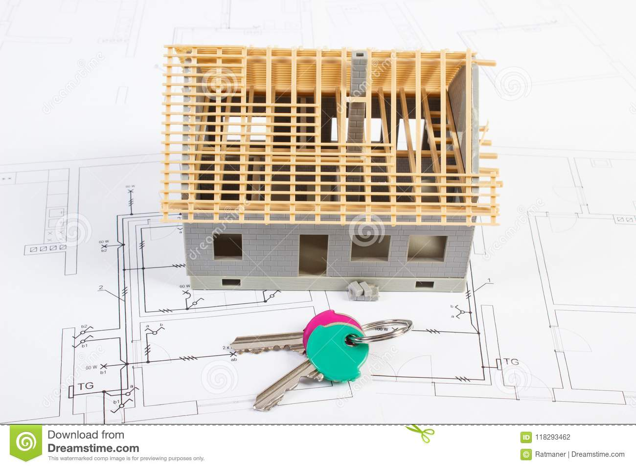 Electrical Drawings And Diagrams With House Under Construction And ...