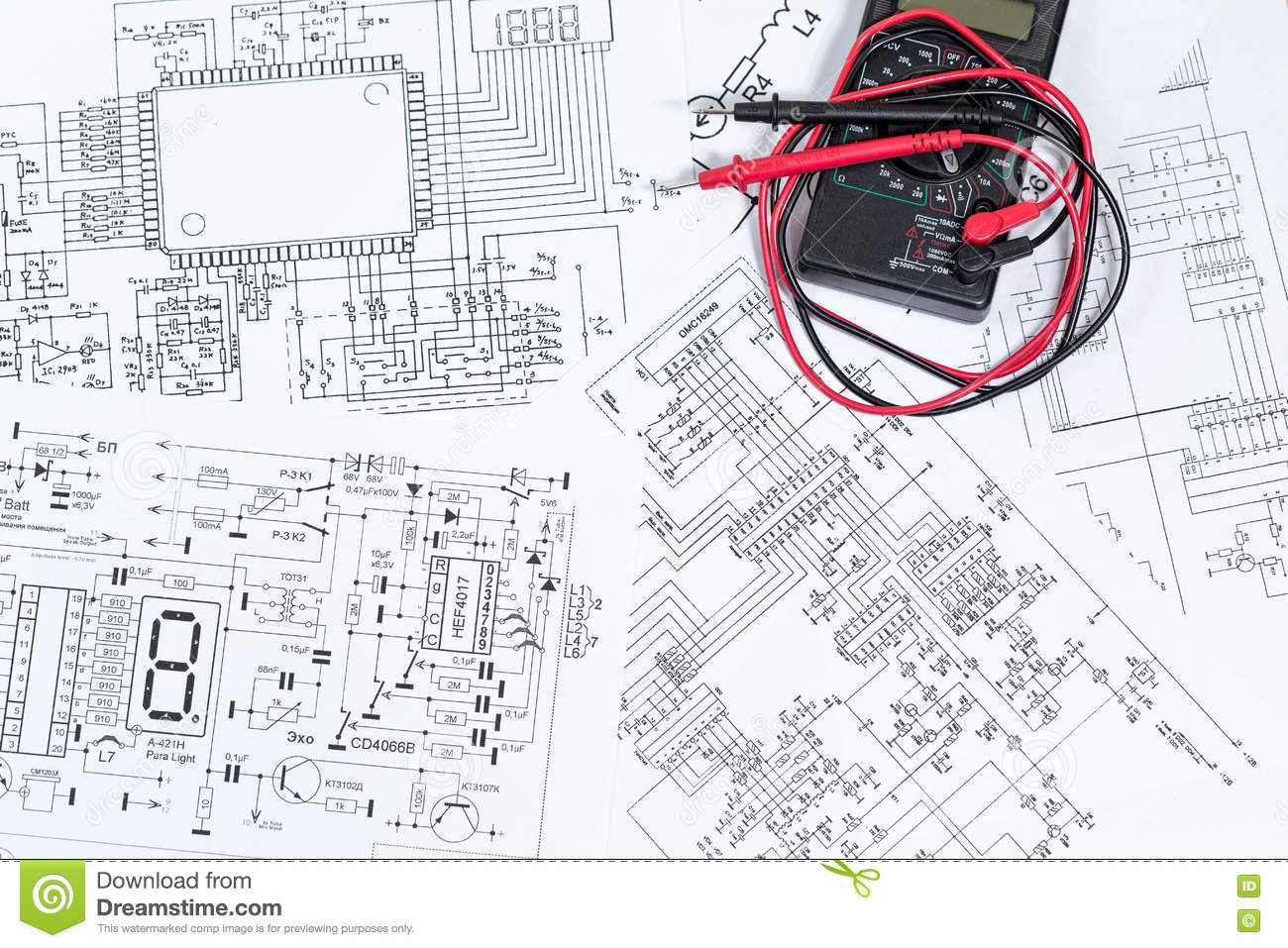 The Electrical And Electronic Stock Photo - Image of design