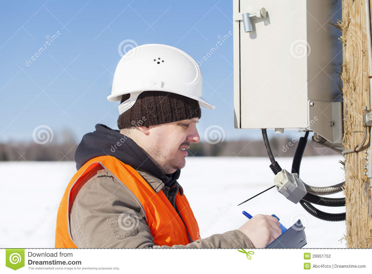 Electrical Engineer Stock Photo Image Of Plan Jacket 29951752 Installation Quality Download
