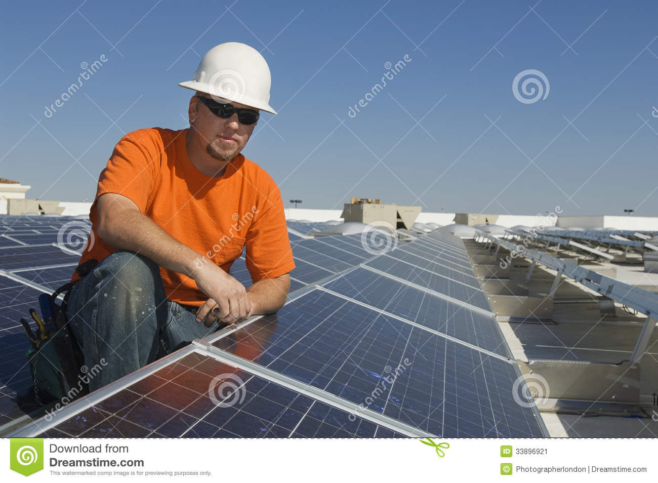 electrical engineer at solar power plant stock image - Power Plant Engineer