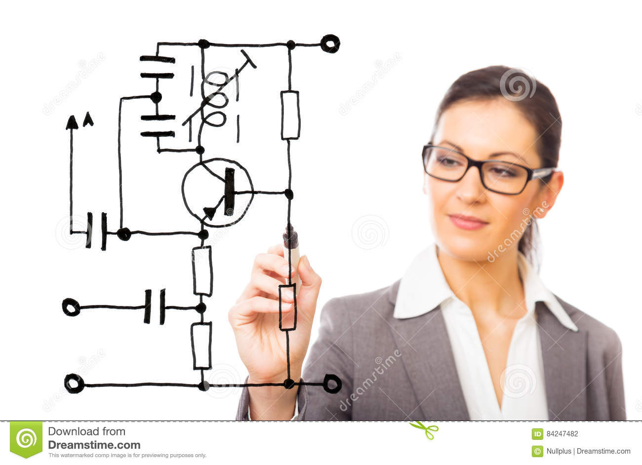 Electrical Engineering Stock Photo Image Of Designing 84247482 Simple Electronic Circuit For Students