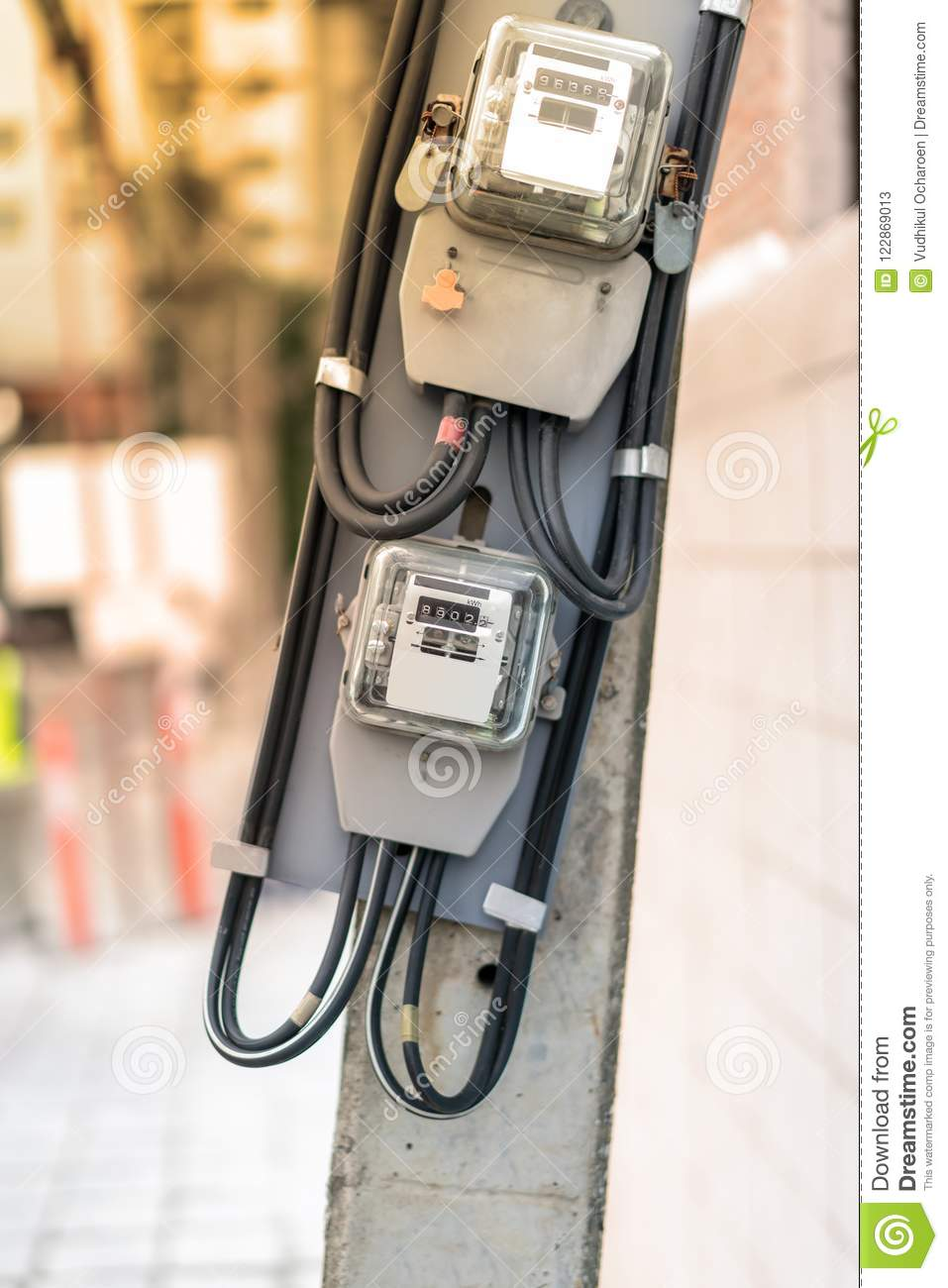 Electrical equipment. Electricity cable and crimper. Electricity